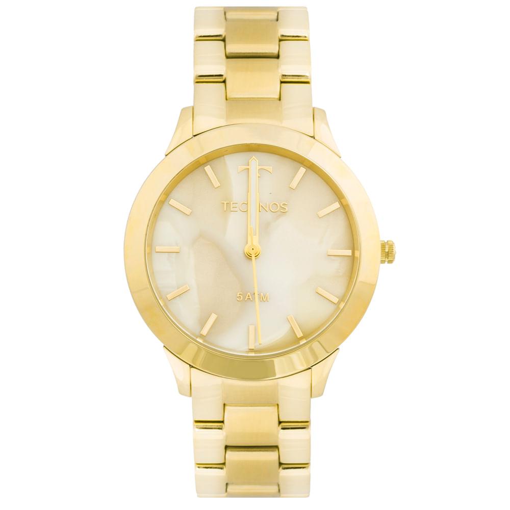 Relógio Technos Unique Y121E5DF 4X Dourado - timecenter 28730147af