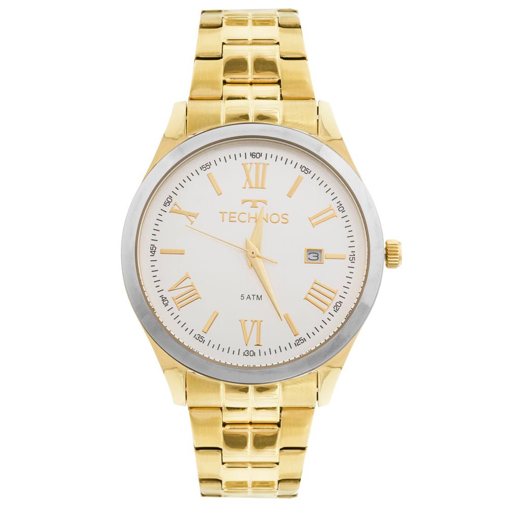 2db471dc23e Relógio Technos Dress 2115MGM 4K Dourado - timecenter