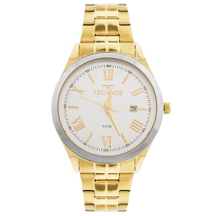 Relógio Technos Dress 2115MGM 4K Dourado - technos 23fc71446a