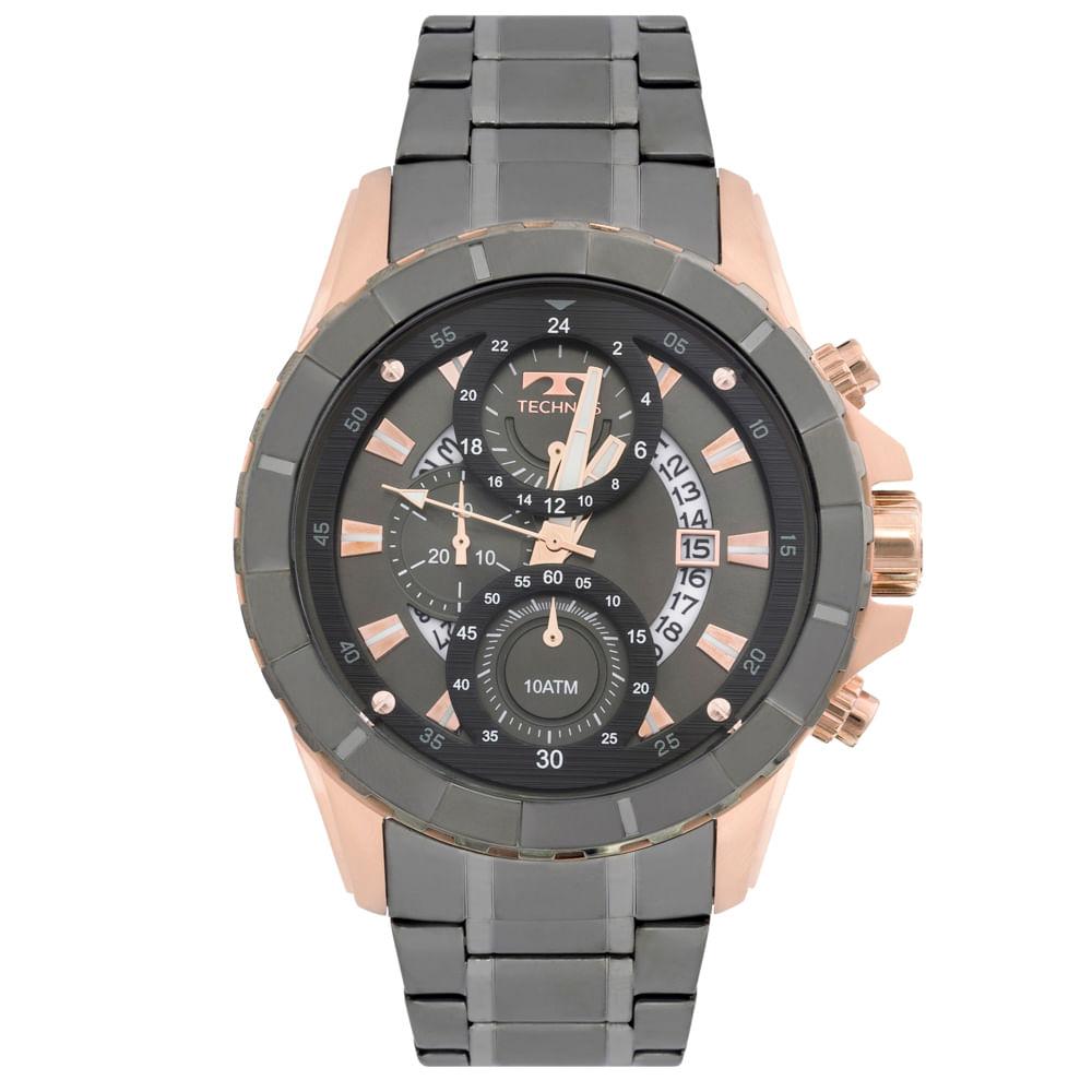 Relógio Technos Legacy JS15EL 4C Bicolor - timecenter 4e6844d1fd
