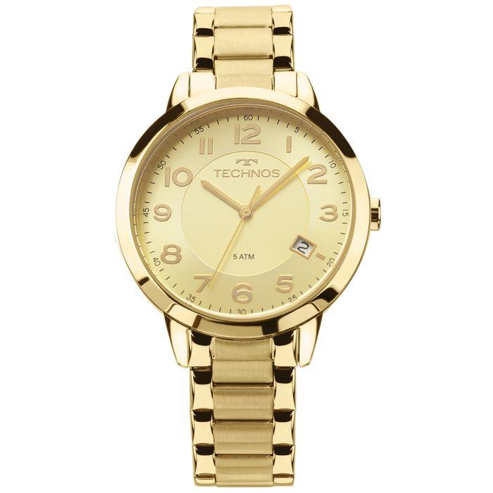 890f95631bb Relógio Technos Dress Feminino Dourado 2315ACM 4X - technos