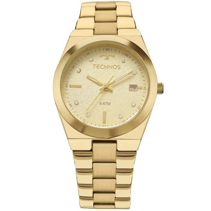 Relógio Technos Trend Feminino Dourado 2115KZR 4X - technos 26b2dcd8c1
