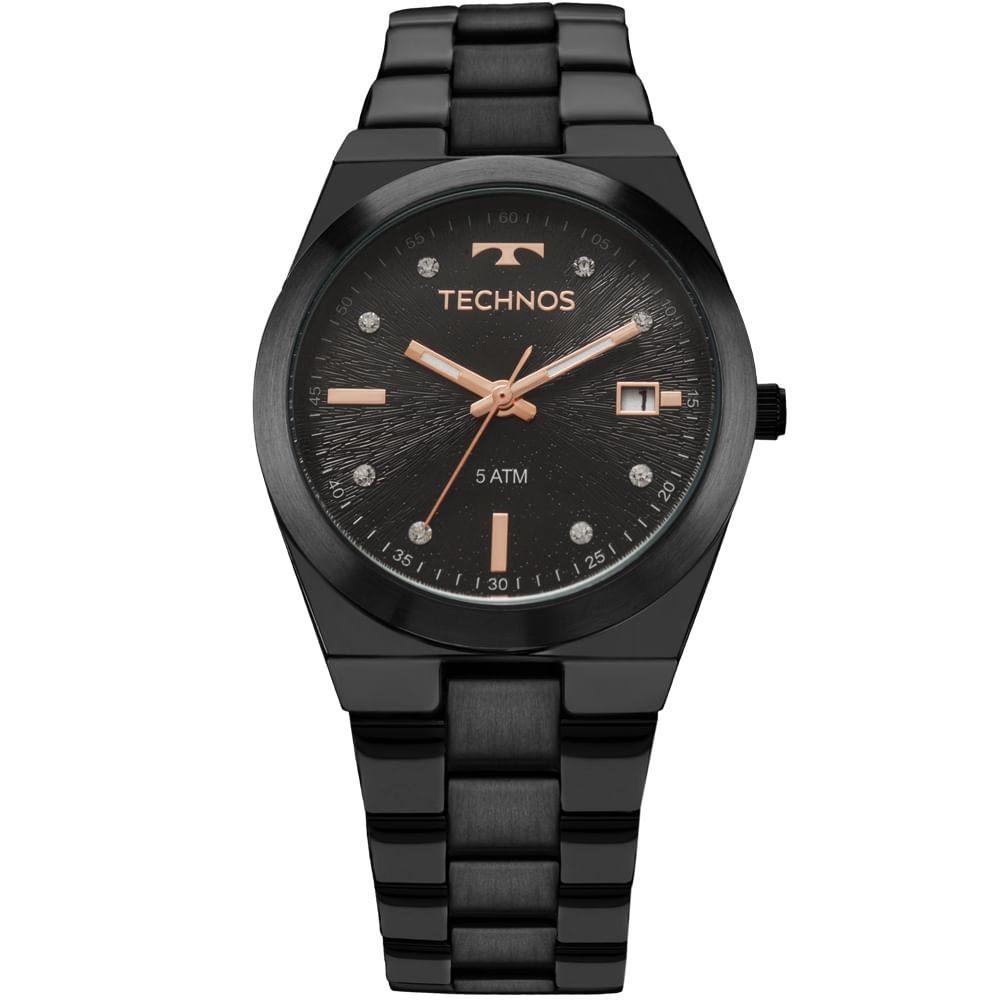 438d22bd46a Relógio Technos Trend Feminino Preto 2115KZS 5P - timecenter