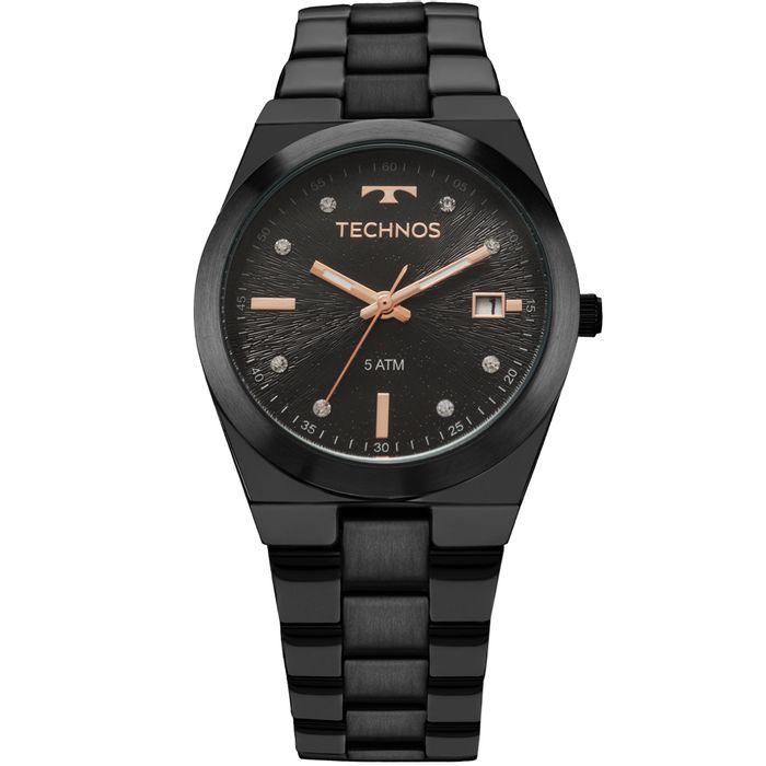 365eb5739ef3a Relógio Technos Trend Feminino Preto 2115KZS 5P - technos