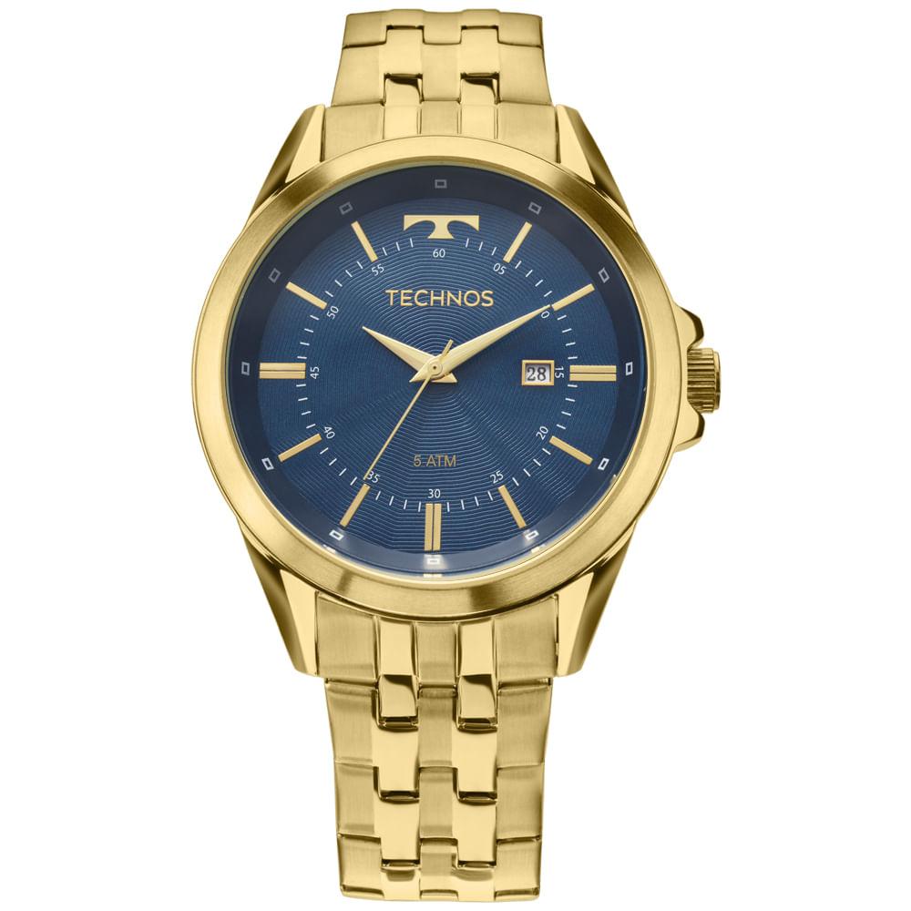 621d05534621c Relógio Technos Executive Masculino Dourado 2115KZC 4A - timecenter