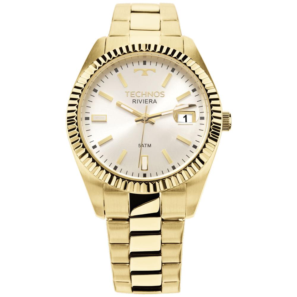 5059f0f8cd2 Relógio Technos Riviera Dourado 2115KTR 4K - timecenter