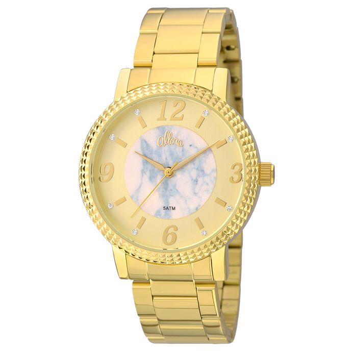 Kit Relógio Allora feminino Marmorizados AL2035FKH K4A - Dourado e75bbbe7ab