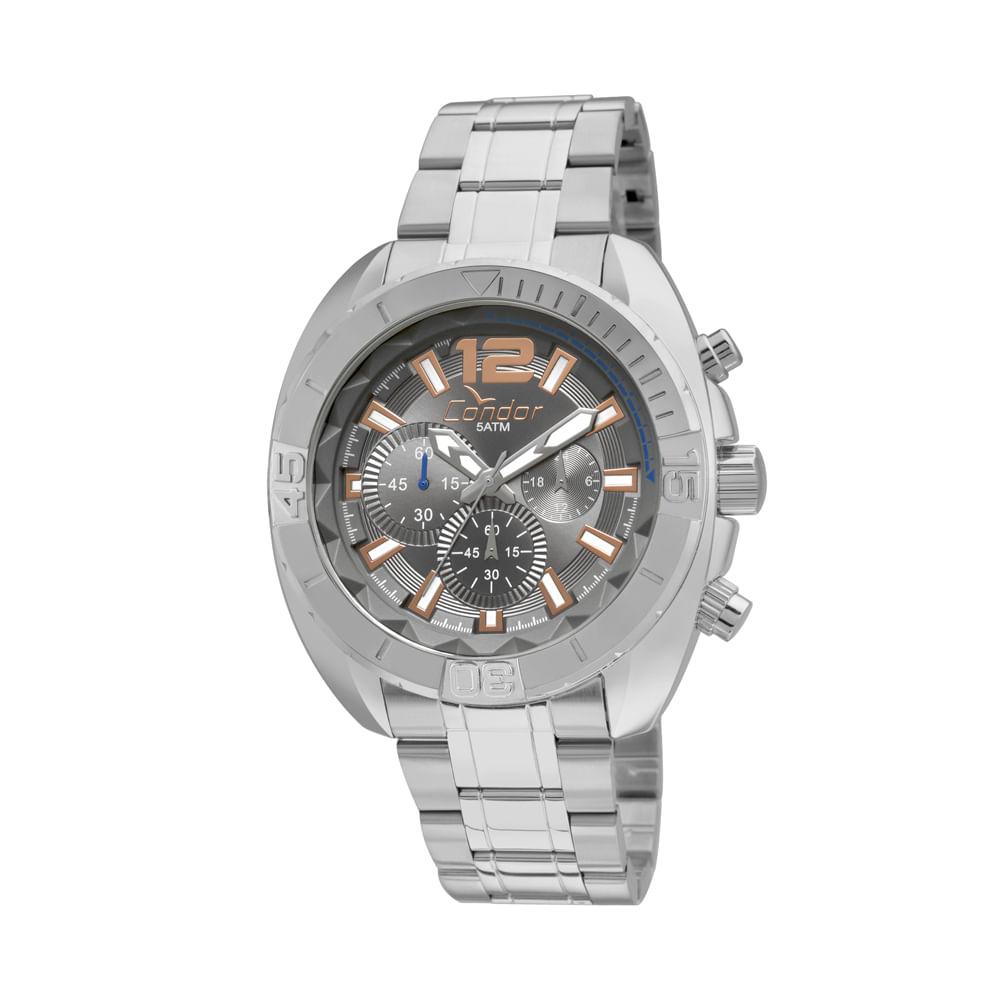 37d7e6266c Relógio Condor Masculino Ritmo Envolvente COVD54AO 3C - Prata - condor