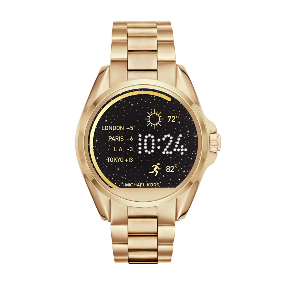 df5de227c8d7e Play. Michael Kors. Smartwatch Michael Kors Access Feminino Dourado ...
