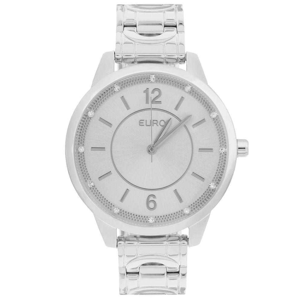 3b6c8e986dc Relógio Euro Feminino Bracelete EU2036YKZ 3K - Prata - timecenter