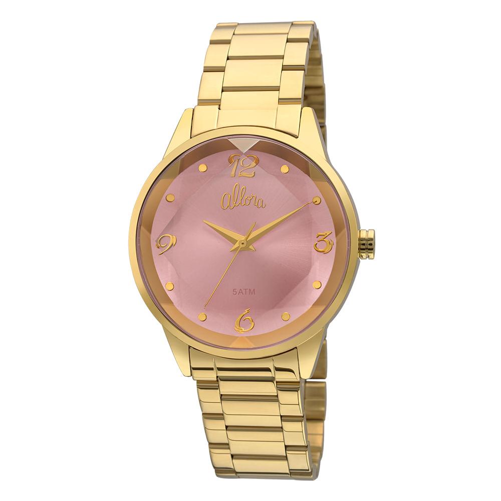 eec39c2ee1a Relógio Allora Feminino Facetados AL2035FKO 4T - Dourado - timecenter