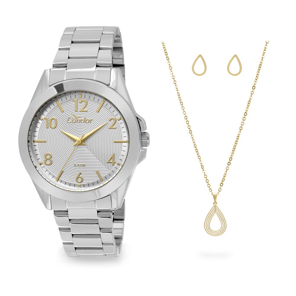 5053a0baac6 Kit Relógio Condor Feminino bracelete CO2035KSH K3K - Prata. 0% Off.  Código  CO2035KSH K3K