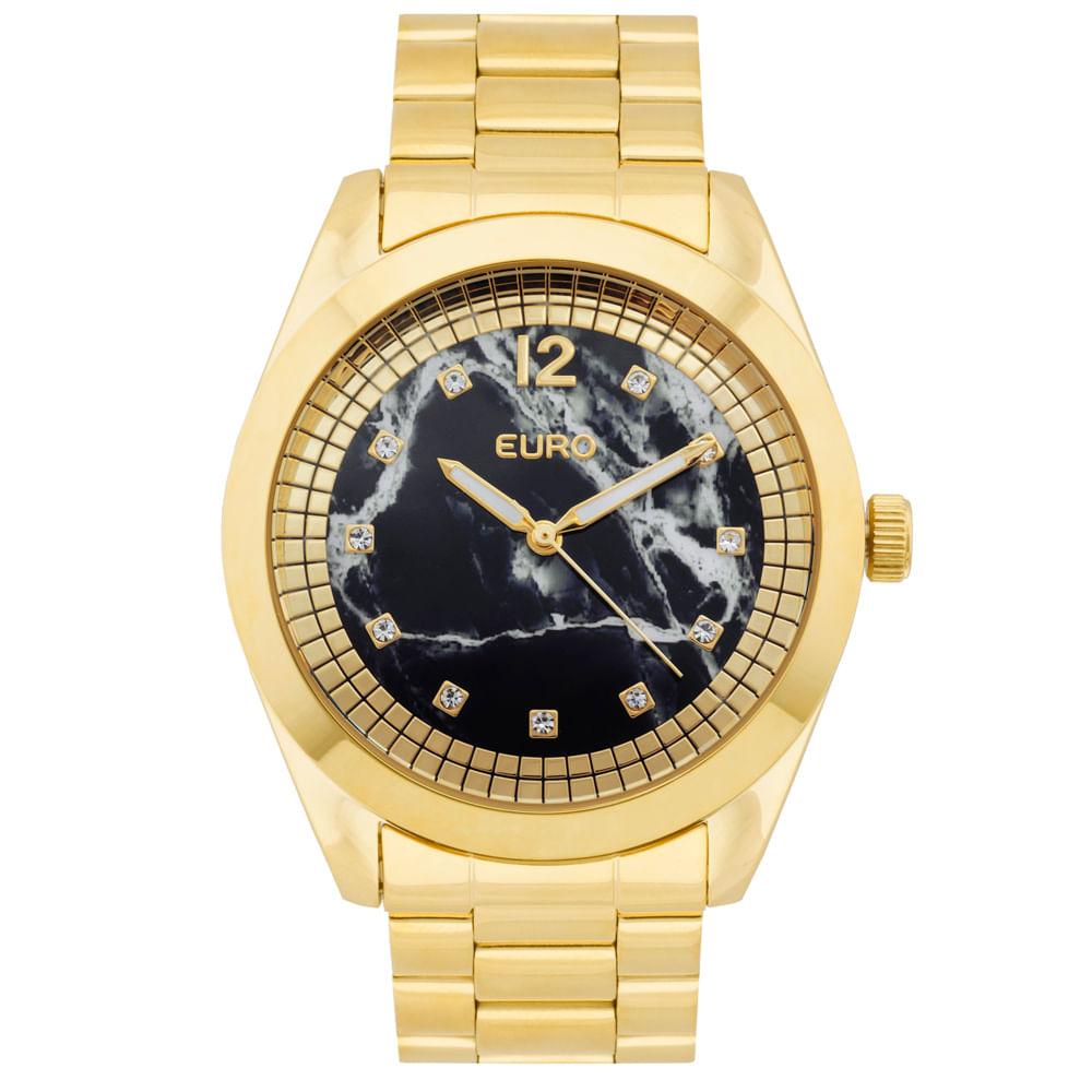 timecenter · Euro · Relógio. Rel-¦gio-Euro-Feminino-Marmorizados-EU2036YKS4P-Dourado 1  ... c3c874292f