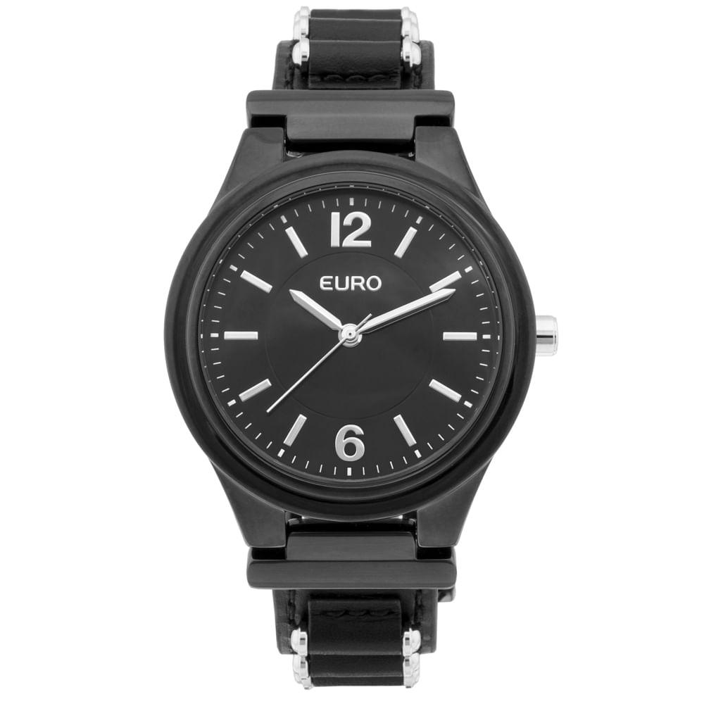 Relógio Euro Feminino Metal Hit EU2035YKW 2P - Preto,prata - timecenter a4253e825c