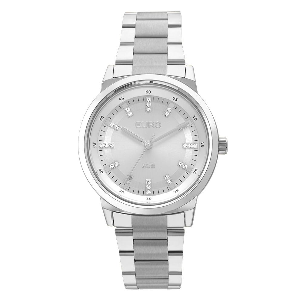 f547836706d Confira Também. EU2036YLH3K Ver mais. EU2036YLH 3K Relógio Euro Feminino  Metal Colors Prata ...