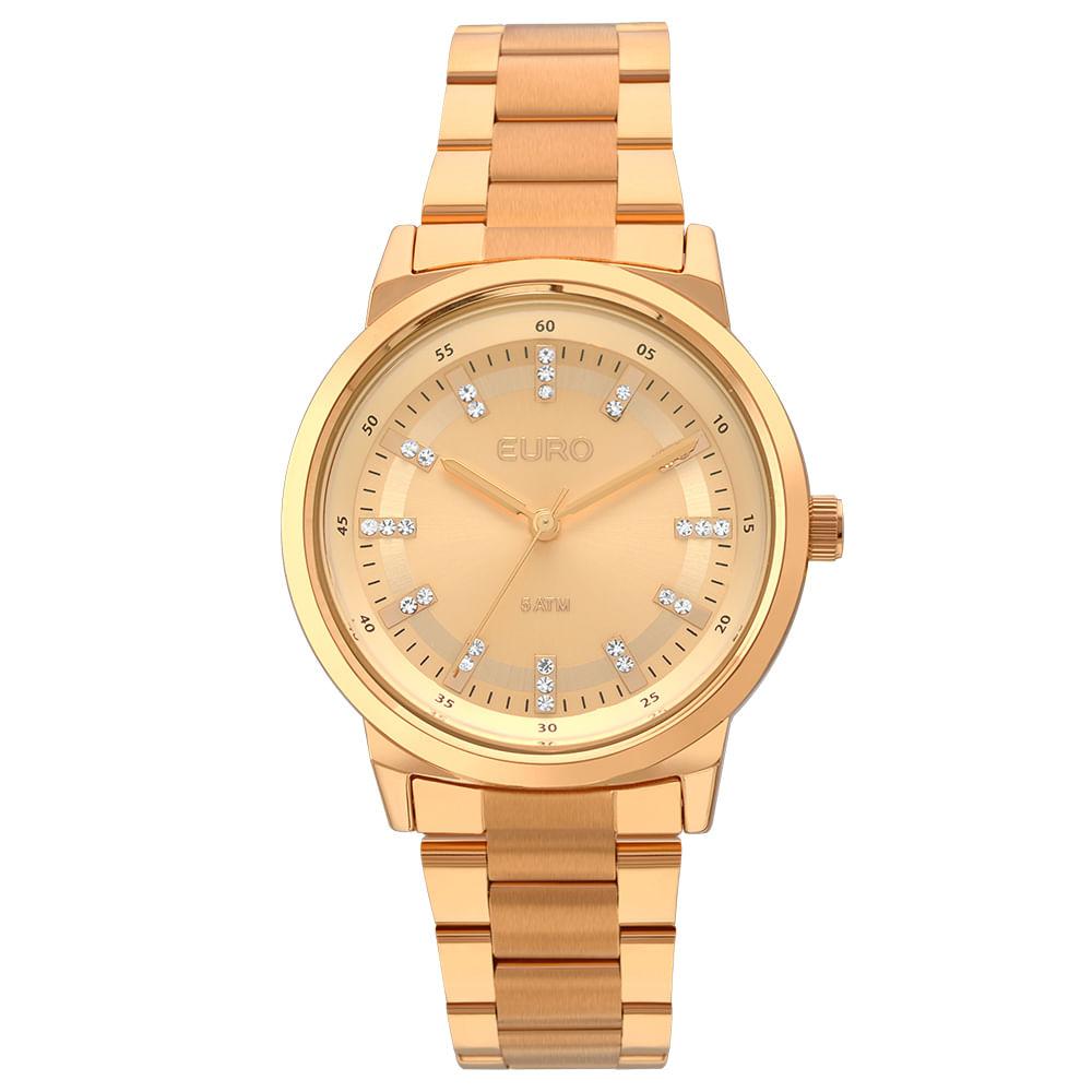 4884e0ac1dabe Relógio Euro Feminino Metal Colors EU2036YLG 4X - Rose Gold - timecenter