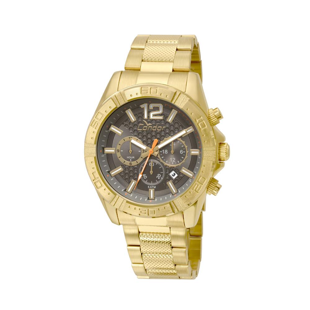 31b57432369 Relógio Condor Masculino Gradeados COVD33AR 4C - Dourado - timecenter