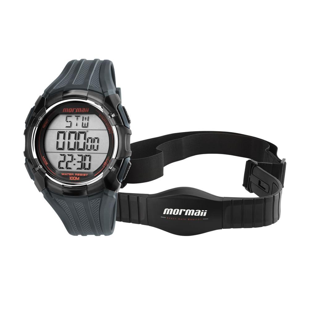 Relógio Monitor Cardíaco Mormaii - MO11558A 8R - timecenter f04d8af51a