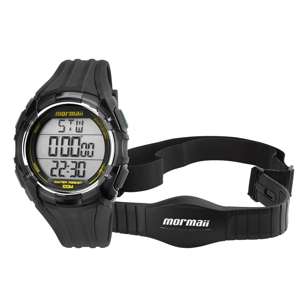 08cb71e9d6e7c Relógio Monitor Cardíaco Mormaii - MO11558A 8A - timecenter