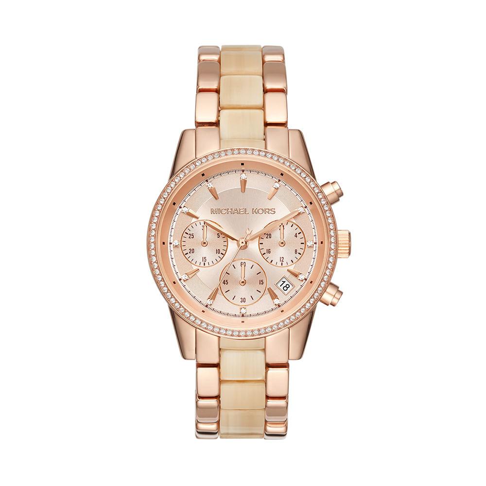 c2df7951660 Relógio Michael Kors Feminino Ritz - MK6493 5XN - timecenter