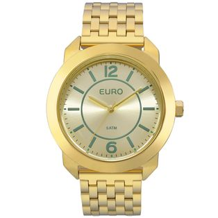 b900b5dd2d4 EU2035YLF4A Ver mais. EU2035YLF 4A Relógio Euro Feminino New Basics Dourado  ...