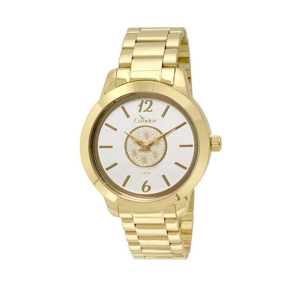 e180b083d88 Relógio Condor Feminino Espelhado Geométrico CO2035KST 4B - Dourado ...