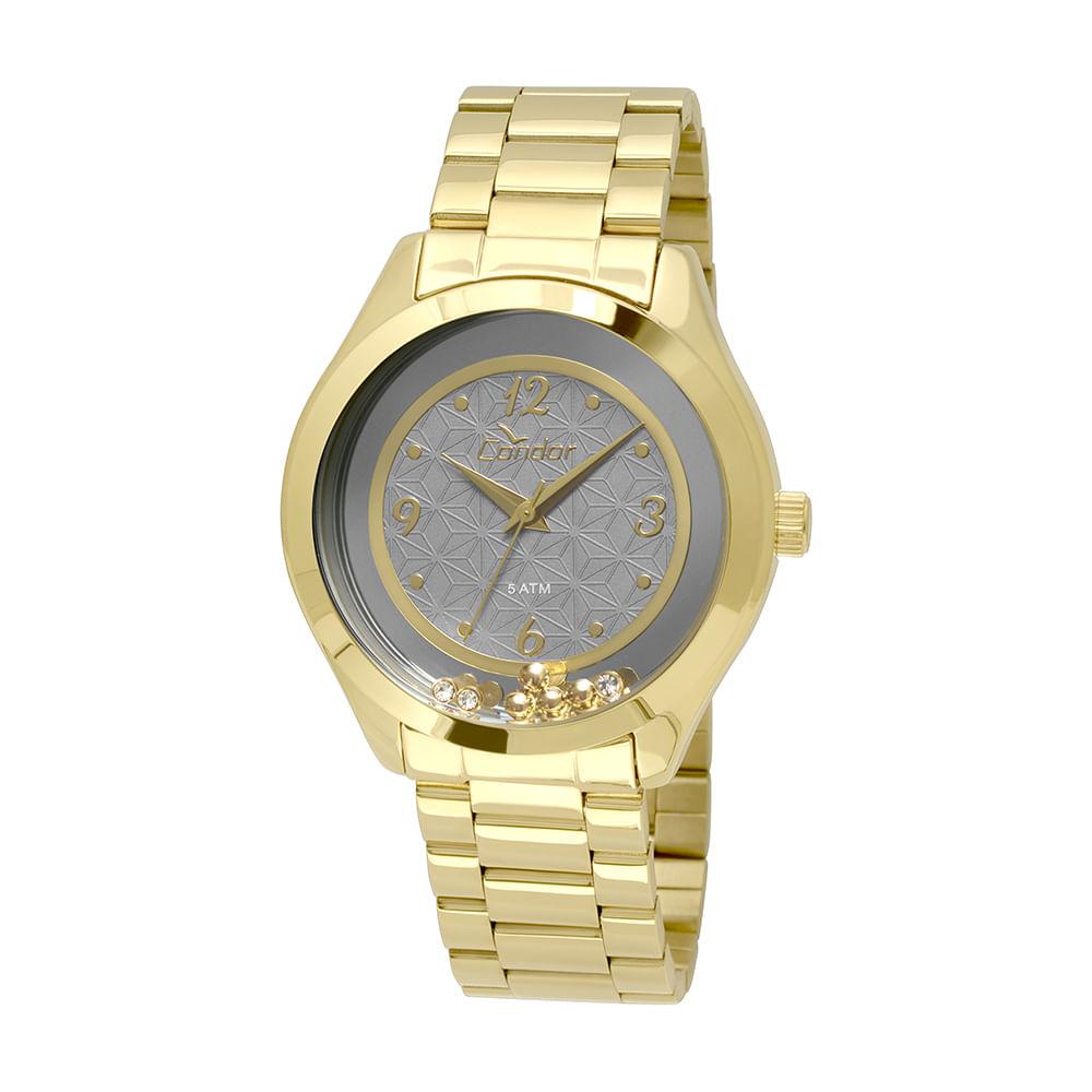 b984313c478 CO2036KSS4C. Condor. Relógio Condor Feminino Espelhado Geométrico  CO2036KSS 4C - Dourado