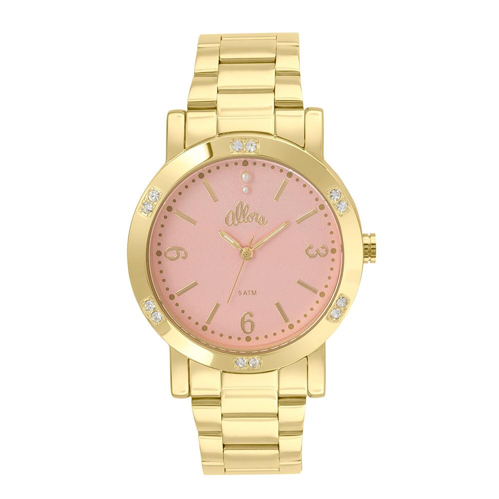 15e818070232f Allora. Relógio Allora Feminino Encanto da Sereia AL2035FBG 4J - Dourado