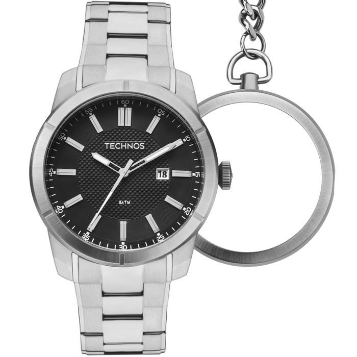 107327d3647 Relógio Technos Masculino Grandtech Prata - GM10YD 1P - technos