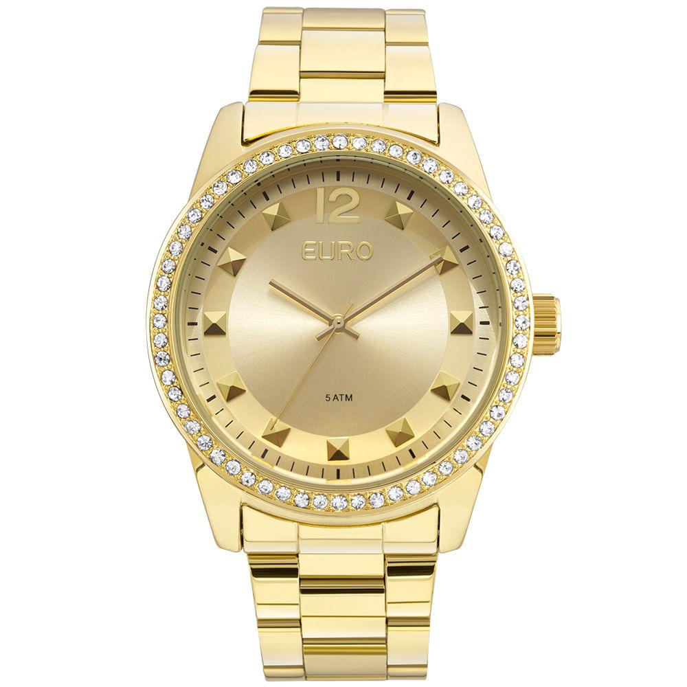 13f151fdc52 Relógio Euro Feminino Spike Road EU2035YLA 4D - Dourado - timecenter