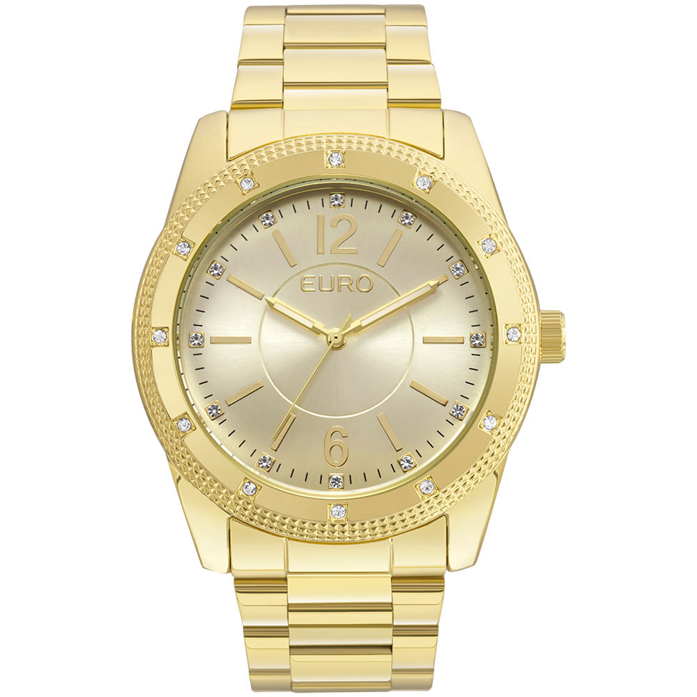 554db10c84e Relógio Euro Feminino Brilho Metalizado EU2035YMO 4D - Dourado ...