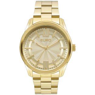 053b863c9fc EU2036LYB4X Ver mais. EU2036LYB 4X Relógio Euro Feminino Brilho Metalizado  Dourado ...
