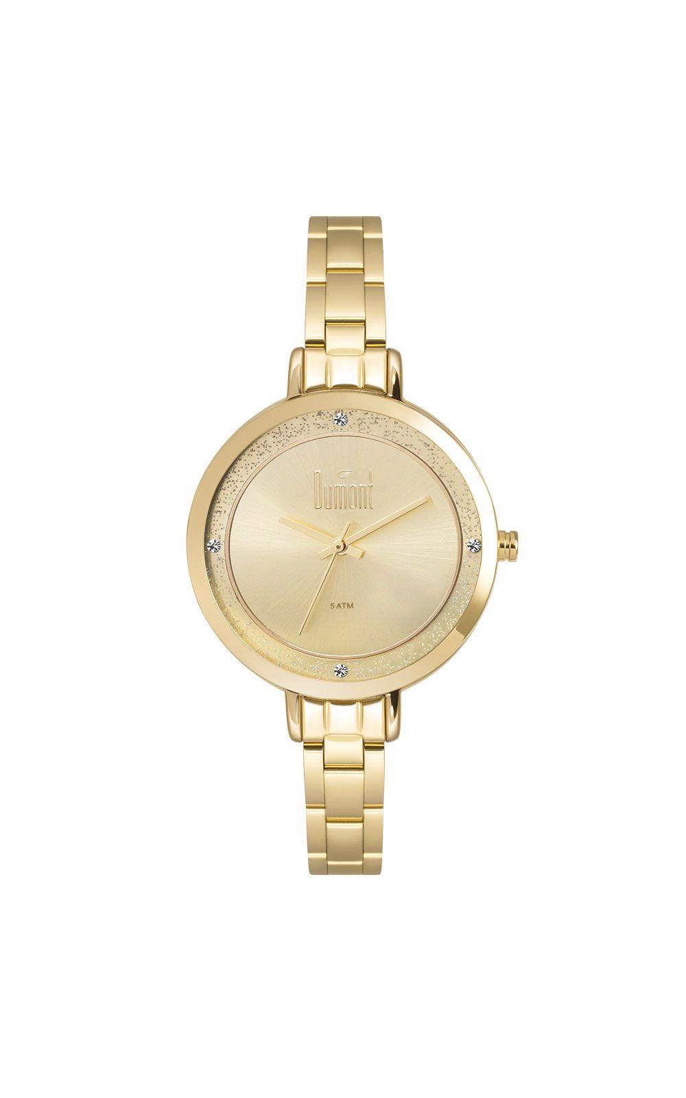 19d01a3b81fe6 Relógio Dumont Elements Dourado DUGM10AI 4D. undefined