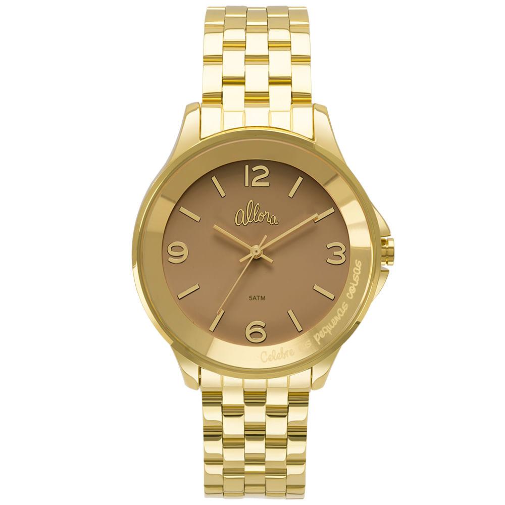 39ea3fea667 Relógio Allora Feminino Serena AL2035FMD 4M - Dourado - timecenter