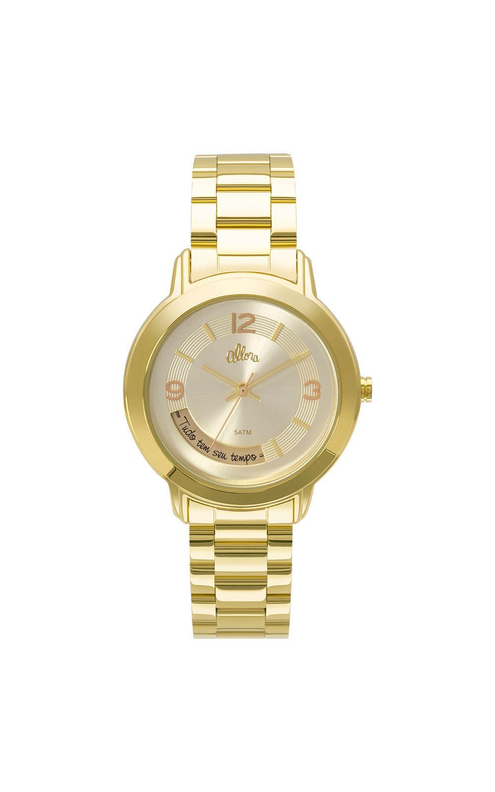 8cc7b86d1bb ... Foto 3 - Kit Relógio Allora Feminino Serena AL2315AI K4X - Dourado ...