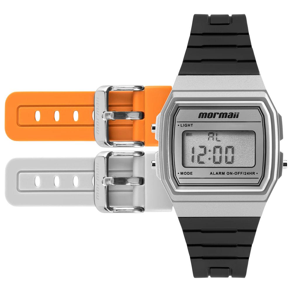 0a436c0b6a2 Relógio Mormaii Troca Pulseira Vintage Freestyle Prata - MOJH02AG 8K ...