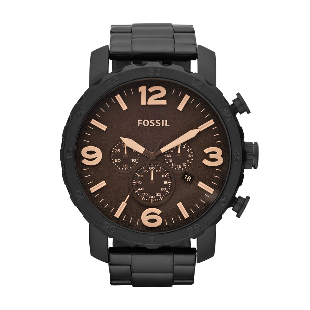 d7315460a3f Relógio Fossil Masculino Nate - JR1356 4MN - fossil