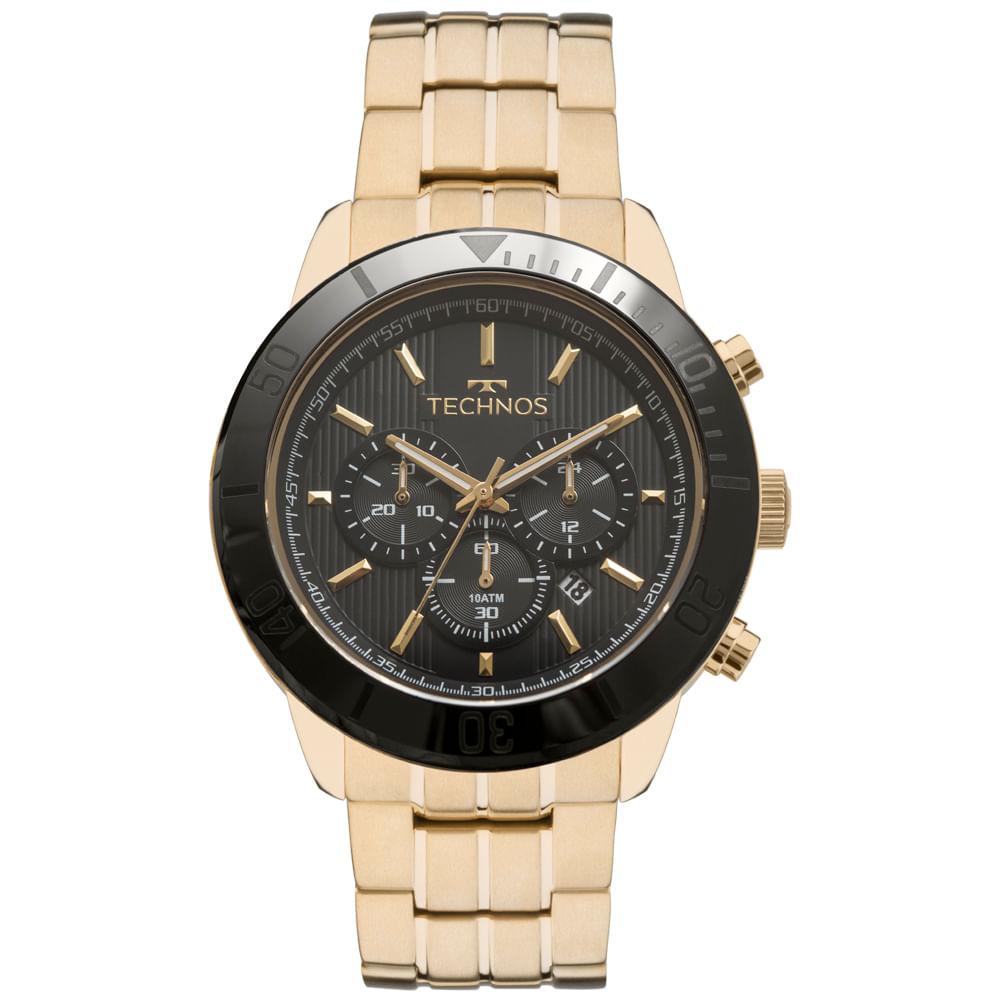 73c59d63f43 Relógio Technos Masculino Ceramic Saphire JS25BR 4P - timecenter