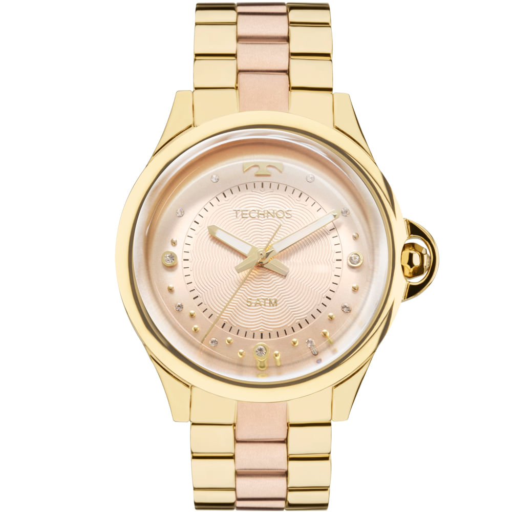 Relógio Technos Feminino Crystal 2039BL 4T - timecenter 2563355640