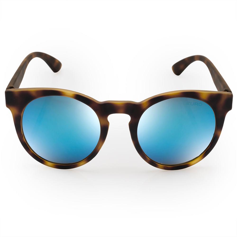 50de146ab Óculos de sol Euro Feminino Fashion fit Azul Espelhado - E0001FC697 ...
