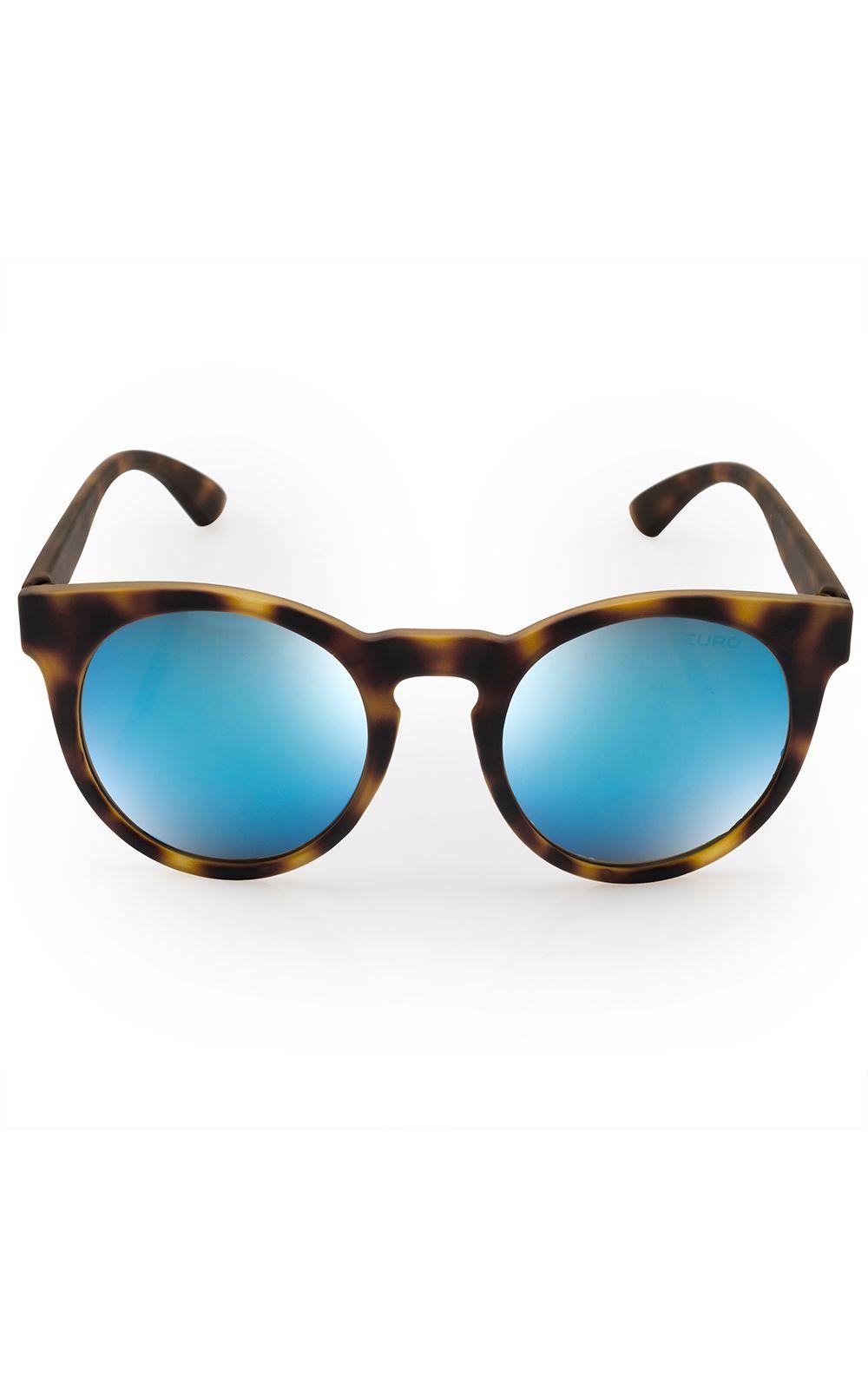 adb7ed5b7144e Óculos de sol Euro Feminino Fashion Fit Azul Espelhado - E0001FC697 ...
