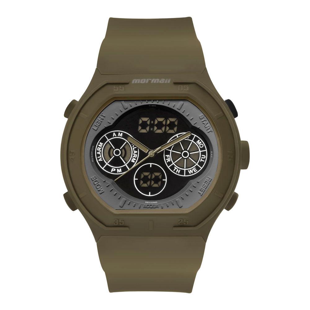 Relógio Mormaii Masculino Psicopato Verde - MO160323AI 8V - timecenter 9606fde917