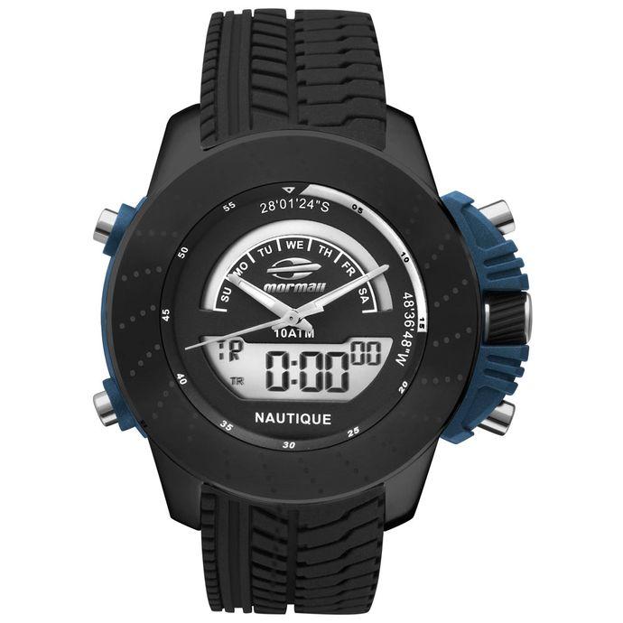 6fc09d0224 MormaiiShop - Relógios Mormaii Masculino Analógico – Tempo de Black ...