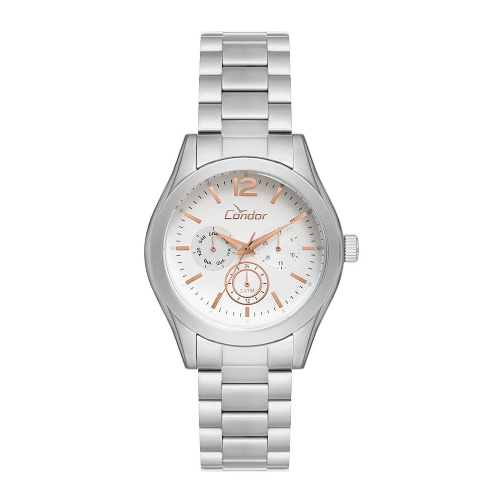 49187ab71b017 Relógio Condor Bracelete CO6P29IE 3K - Prata - timecenter