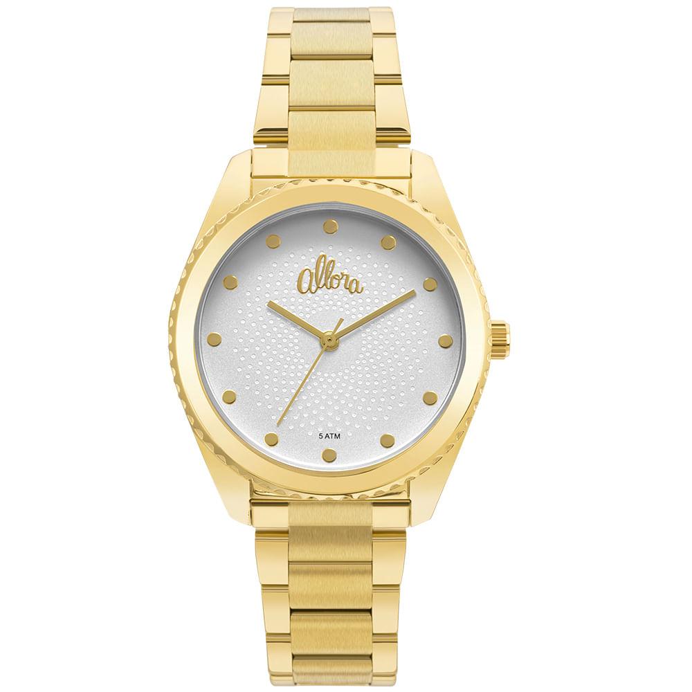 b49d986efae Relógio Allora Feminino Algodão Doce AL2035FMI 4K - Dourado - timecenter