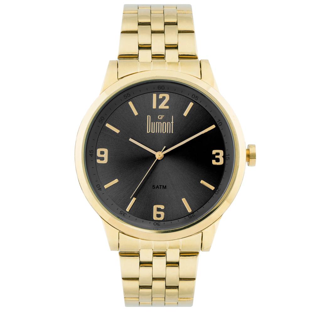 6239a61b50c Relógio Dumont Berlim DU2035LTG 4P Dourado - timecenter