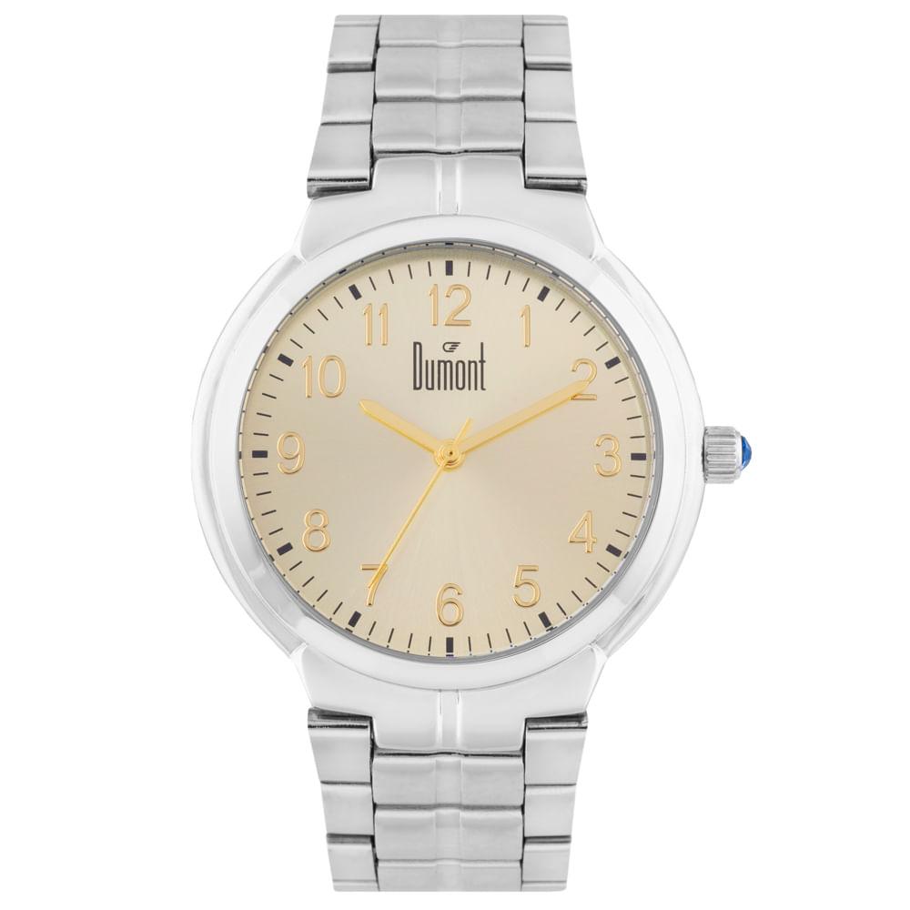 5776079c6ceeb Relógio Dumont London DU2035LUN 3D Prata - timecenter