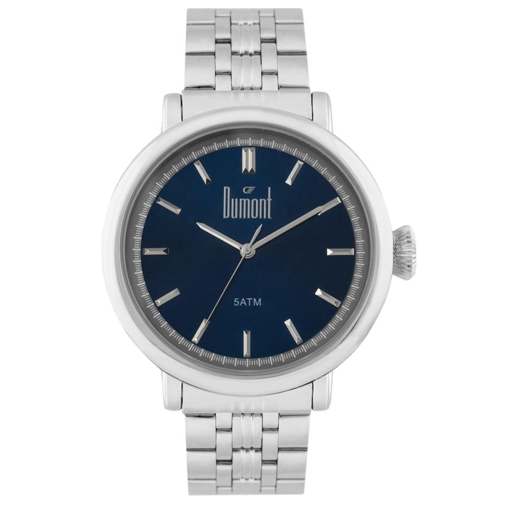 badba012206 Relógio Dumont Masculino Berlim DU2035LSX 3A Prata - Tempo de Black ...