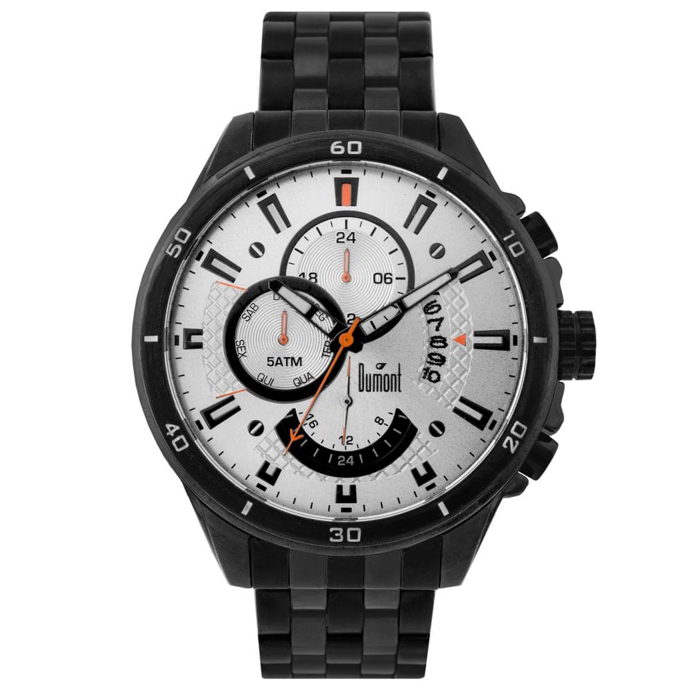 cc35f170159 Relógio Dumont Masculino Garbo DUJP15AC 3K Preto - Tempo de Black Friday