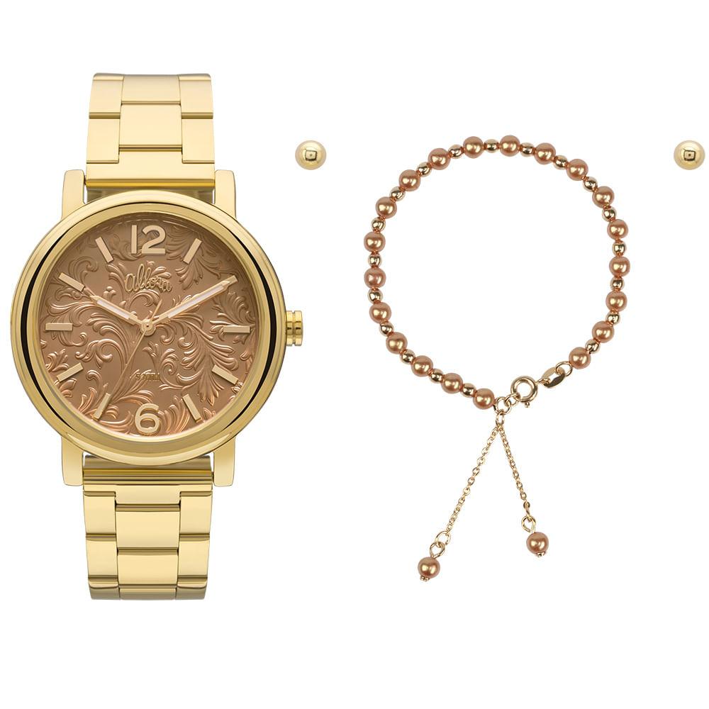 0ebc868f106 Relógio Allora Feminino AL2036CH K4X - Dourado - timecenter